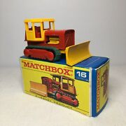 1960s.matchbox.lesney.,16 Case Tractor With Cab..mint In F Type Box.all Original
