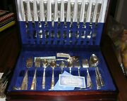 Oneida Community Morning Star Silverplate 76 Piece Set And Wood Caseserv For 12