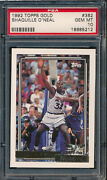 1992 Topps Gold 362 Shaquille Oand039neal Rc Psa 10