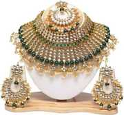 Traditional Indian Copper Gold-plated Jewel Set Gold Fp999
