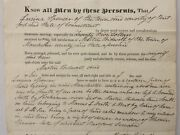 1835 Antique Deed Hartford Ct Lucina Spencer To Martin Bidwell Manchester