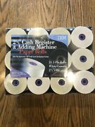 Ibm 2i/4 Cash Register And Adding Machine Paper 24 2-ply Rolls White/canary
