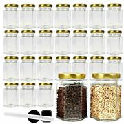 4 Oz Hexagon Glass Jars With Metal Lids. 120 Ml Canning Jars Containers For S...