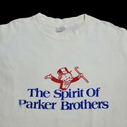 Vintage Rare 90s Monopoly Long Sleeve Shirt Spirit Parker Of Brothers Game Sz Xl