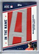 2020 Topps Series 1 Masahiro Tanaka In The Name 1/1 Nameplate Patch A Relic
