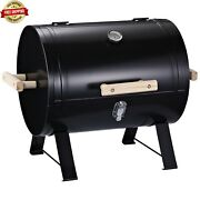 Barbecue Tabletop Charcoal Grill Side Fire Box Portable Bbq Smoker Char-griller