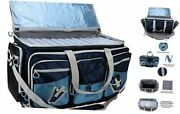 Saltwater Resistant Fishing Tackle Bag, Heavy Navy W/ Tackle Boxes, X-large