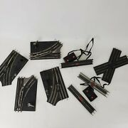 Lot Of 9 Lionel Post War And Marx O27 Gauge Tracks And Switches
