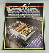 Grillpro Roto-roast 2 Automatic Hotdog Kebob Roaster For Grill New Old Stock