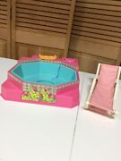 Vintage Barbie 1983 Hot Tub Jacuzzi Bubbling Spa + Tray + Chaise Lounge Pink