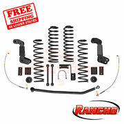 Rancho Suspension 4 Lift Kit For 2007-15 Jeep Wrangler Unlimited Sahara 4wd