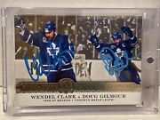 2019-20 The Cup Signatures Renditions Combos Wendel Clark And Doug Gilmour