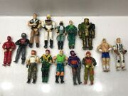 Lot Of 14 Vintage Hasbro Gi Joe And Street Fighter 1980's And 90's 6 Action Figures