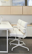 Herman Miller Eames Soft Pad Chair Authentic Mcl Pear White Leather
