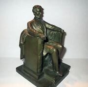 Signed Antique Daniel Chester French - Abraham Lincoln Bronze Sculpture
