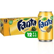 Fanta Pineapple 12pk 12 Pack Cans Soda Cola Soft Drink Free Shipping