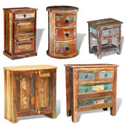 Reclaimed Solid Wood Cabinet Cupboard With 2/3/4 Drawers Vintage Rustic Antique