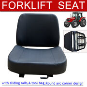 Universal Forklift Seat Replacments W/slide Track Fits Lawn Mower Garden Tractor