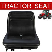Universal Lawn Mower Seat Tractor Forklift Seat Repalcement W/drain Hole Black