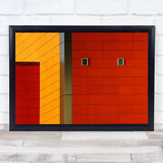 The Wall Building Abstract Facade Grid Lines Architecture Vents Wall Art Print