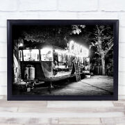 Electric Chicken Restaurant Food Truck Eat Chef Cooking Cook Wall Art Print