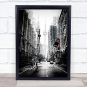 On The Streets Of Toronto Street Canada Bicycle Cityscape Wall Art Print