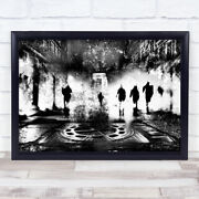 Night Out Sewer Filter Texture Gang Cityscape City Wall Art Print