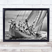 So You See Weand039ll Move That Way Antibes Sail Race French Sailing Sails Art Print