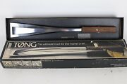 Vintage Tommer Tøng Polished Aluminum And Black Walnut Cooking Grilling Tongs Usa