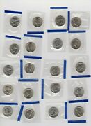 1996 Jefferson Nickel Bu Roll In Mint Cello Mixed 20p And 20d
