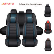 Car Seat Covers 5 Seats Pu Leather Cushion Protector Full Cover Universal Fit