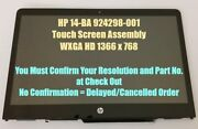 Lcd Touch Glass Screen Assembly Frame For Hp Pavilion X360 14-ba021ng 14-ba028ng