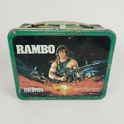 Vintage Rambo Metal Lunch Box Sylvester Stallone