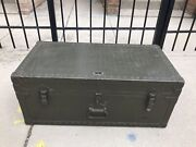 Vintage Ww2 Military Footlocker Trunk - Purves Manufacturing Corp 1948