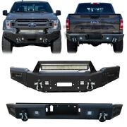 Front And Rear Bumper Fits 18-20 Ford F150 Excluding Raptor With Sensor Hole