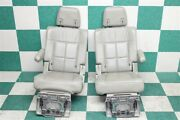 07-14 Navigator Gray Second 2nd Row Buckets Captains Chairs Armrest Seats Oem