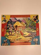 Vintage Jaymar 3 Pack Stay-in-tray Disney Mickey Donald Pluto Floor Puzzles 1962