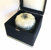Rare Large Silver Etrog Container Special Edition Engraved Tradition Judaica Art