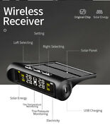 Solar Lcd Car Tpms Wireless Tire Pressure Alarm Monitor System With 4 Sensors