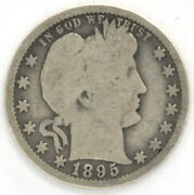 Lot Of 2 Barber Quarters 1895 O 1896 O 25 Cent Us 90 Silver Coin United States