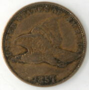 1857 Flying Eagle 1 Cent Penny Us Copper Nickel Coin United States Philadelphia