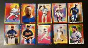 1997 Topps Gallery Baseball Peter Max Serigraph Complete Set Pm1-10 Mint
