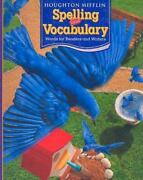 Houghton Mifflin Spelling And Vocabulary Consumable Student Book Ball And Stick