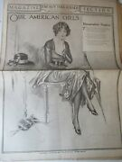 The New York Herald April 22 1917 Magazine Section Archie Gunn Drawing On Cover