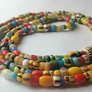 African Trade Bead Strand Of Beads Collectable Vintage Antique Multi Color