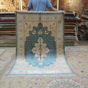 Yilong 4and039x6and039 Traditional Silk Area Rugs Handmade Carpet Villa Hand-knotted 433a