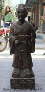 33 Chinese Bronze Archaic Old Man Doctor Medical Sage Zhang Zhong Jing Statue
