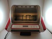 Ronco Ez Store Showtime Rotisserie Oven Rare Red Model 5250 Great Condition