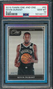 2019 Panini One And One Blue 62 Kevin Durant Psa 10