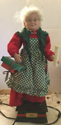 Vintage Holiday Creations Mrs Santa Claus Animated With Gifts And Light